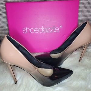 Brand New Black and Nude Ombre Stilettos